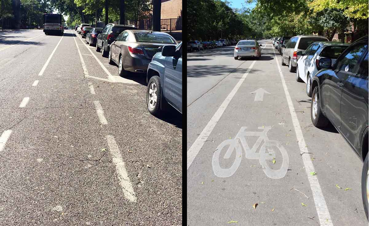 St Louis vs Chi bike lane
